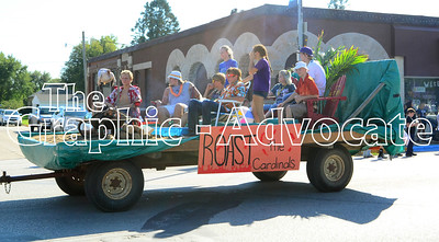 A class float is seen during Friday's Homecoming parade in Lake City. GRAPHIC-ADVOCATE PHOTO/ERIN SOMMERS