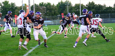 SCC's Kody Case (3) runs with the ball early in the Homecoming game Friday against Clarinda. Case scored the game's first touchdown within the first minute of play. GRAPHIC-ADVOCATE PHOTO/ERIN SOMMERS