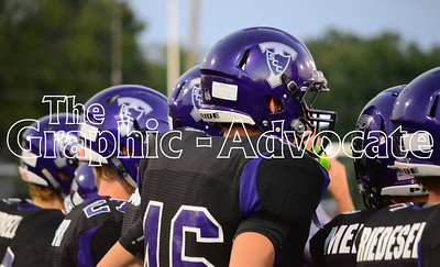 South Central Calhoun football players watch the start of the 2016 Homecoming game against Clarinda Friday night. GRAPHIC-ADVOCATE PHOTO/ERIN SOMMERS