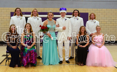 South Central Calhoun crowned Kelsi Carlson and Kody Case the 2016 Homecoming Queen and King Wednesday evening. GRAPHIC-ADVOCATE PHOTO/ERIN SOMMERS