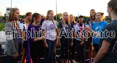 SCC vocal students perform the national anthem Friday night prior to the start of the 2016 Homecoming football game. GRAPHIC-ADVOCATE PHOTO/ERIN SOMMERS