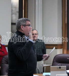 Carl Legore is sworn in as the newest Calhoun County Supervisor Jan. 3. GRAPHIC-ADVOCATE PHOTO/ERIN SOMMERS
