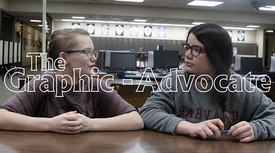 Maggie Armstrong, left, and Kennadie Machovec discuss New Year's resolutions last month. GRAPHIC-ADVOCATE PHOTO/ERIN SOMMERS