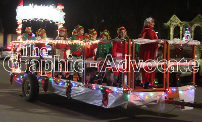 Little elves serenaded Lake City Christmas parade attendees Saturday night. GRAPHIC-ADVOCATE PHOTO/ERIN SOMMERS