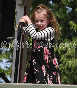 Zoie Daniel talks about her favorite fall things during the Little Princess contest Sunday in Lake City. GRAPHIC-ADVOCATE PHOTO/ERIN SOMMERS