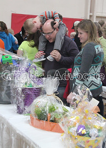 Opportunity Living hosted its Easter Eggstravaganza Saturday. Hundreds of people turned out for the breakfast and the chance to bid on Easter baskets. GRAPHIC-ADVOCATE PHOTO/ERIN SOMMERS