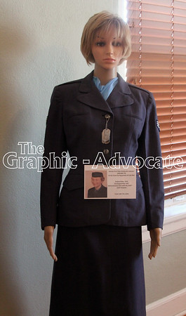 A mannequin displays a World War II uniform. GRAPHIC-ADVOCATE PHOTO/ERIN SOMMERS