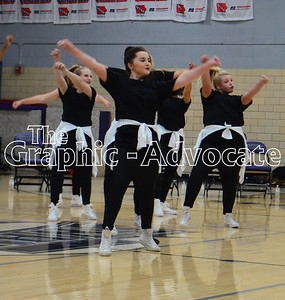 South Central Calhoun High School dance team members perform during a Homecoming pep rally Sept. 21. The team's annual show will take place in December this year. GRAPHIC-ADVOCATE PHOTO/ERIN SOMMERS