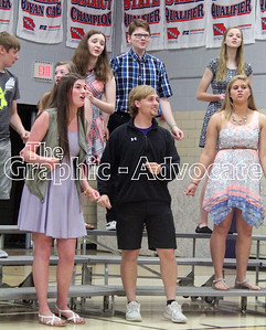 """The Swing Choir perform """"L.O.V.E."""" May 10. GRAPHIC-ADVOCATE PHOTO/ERIN SOMMERS"""