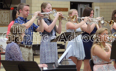 """Jazz band members perform """"Lago del Oeste"""" May 10 during the annual Fine Arts Show at South Central Calhoun High School. GRAPHIC-ADVOCATE PHOTO/ERIN SOMMERS"""