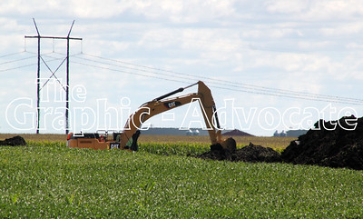 Construction of the Dakota Access oil pipeline is seen in Calhoun County Sept. 1. GRAPHIC-ADVOCATE PHOTO/ERIN SOMMERS