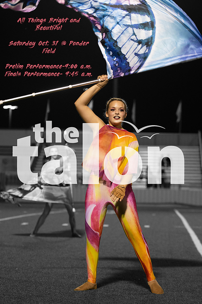 All Things Bright and Beautiful<br /> Saturday Oct. 31 @ Ponder Field Prelim Performance-9:00 a.m. Finals Performance-9:45 a.m. (Tyler Castellanos|The Talon News)