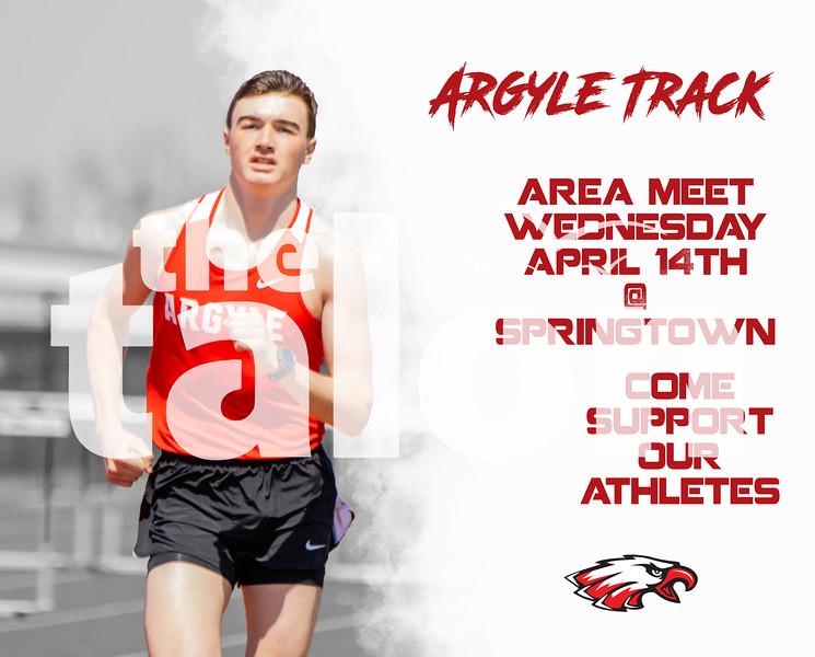 Argyle Track Area Meet Wednesday April 14th @ Springtown Come support our athletes (Tyler Castellanos The Talon News)