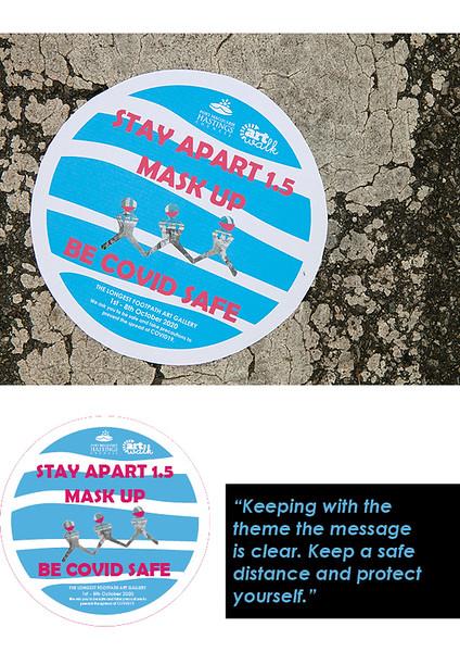 Be Covid safe footpath sticker