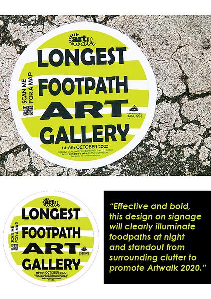 Event promotion footpath sticker