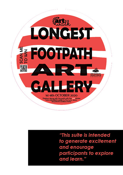 Competition footpath sticker