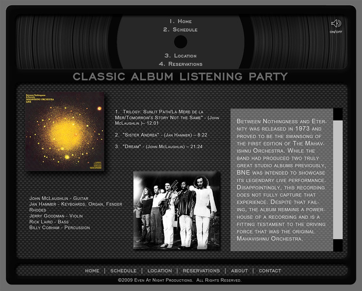 Classic Album Listening Party - Website