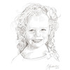Commissioned 8x10 digital pencil portrait, printed on textured art paper. 2015