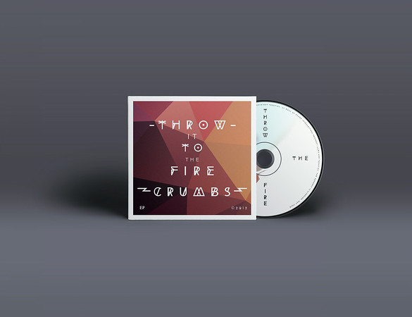 Throw it to the Fire - Crumbs EP Cover design