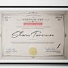 Prizegiving Certificate Design for Local Football Club