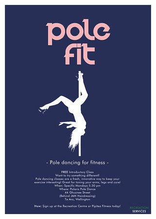 Pole Fit @ Victoria University - Poster Design