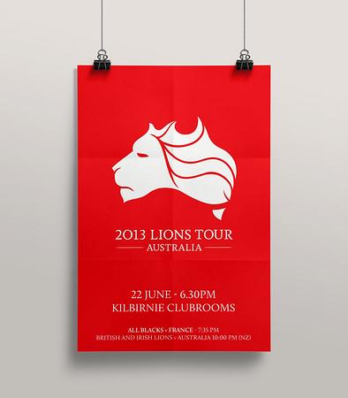 2013 Lions Tour - Promo poster