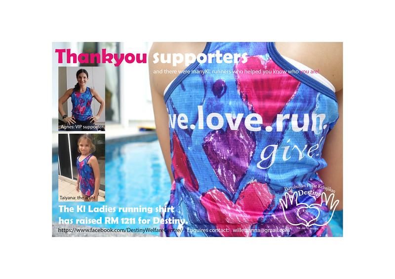 Live Love Run Give running shirt
