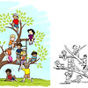 "I created a new version of this illustration in 2013 titled ""The Leadership Tree"" for the ISU Bayh College of Education.  The illustration on the right is what was used for over 20 years.  The illustration on the left is my new version."