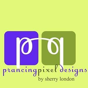 Prancing pixel logo design