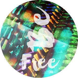 Be free sticker design