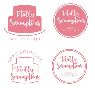 Totally Scrumptious logo design.