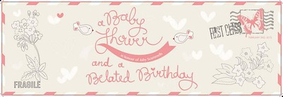 Baby shower banner design