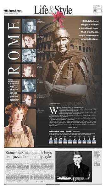 "HBO's ""Rome"" debuts."