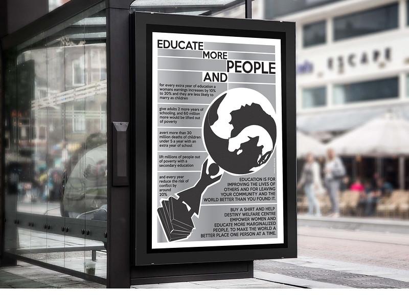 Headline news social activism poster.