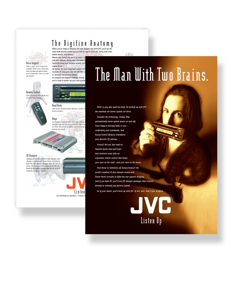 JVC Car Stereo Equipment Advertisement Automotive Electronics, Retail