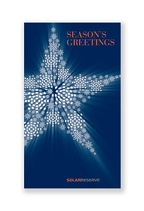Holiday Greetings Card Mailer SolarReserve, Solar Power Generator