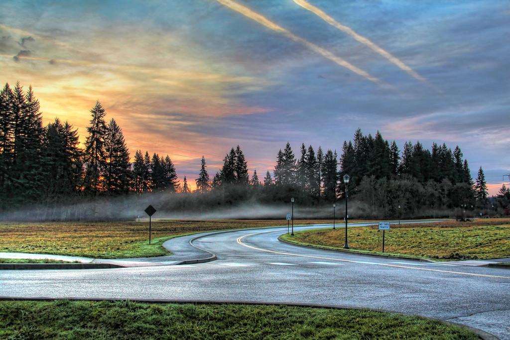 WSUV Road at Sunrise