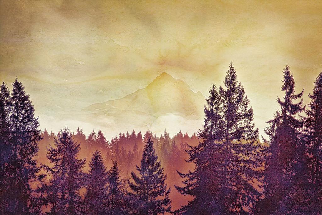 Mount Hood in Sepia enhanced