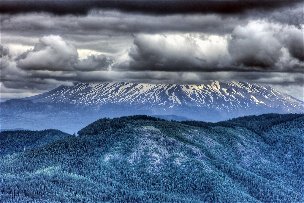 Mt  st  helens from Silver star DN