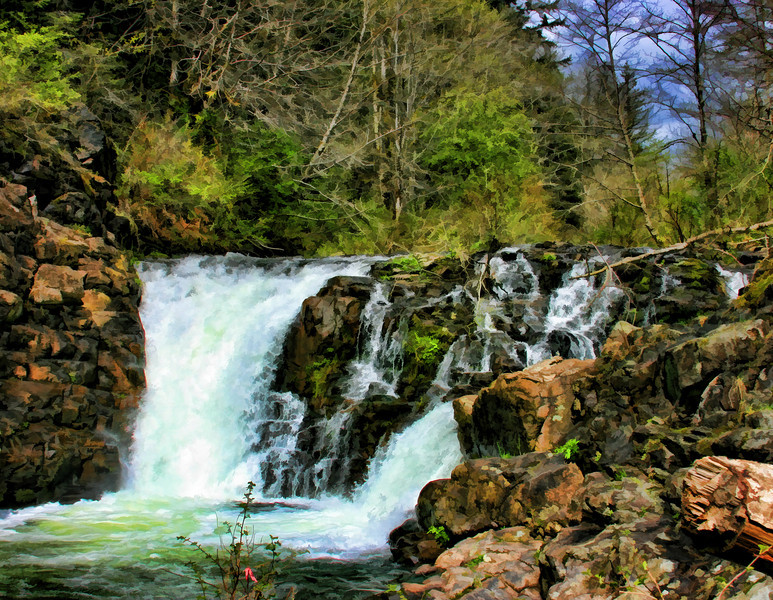 Moulten Falls Painted