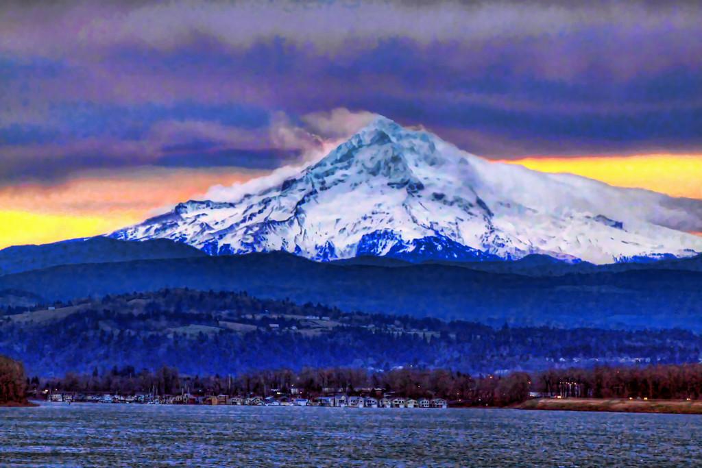 Mt Hood-Columbia HDR Dramatic