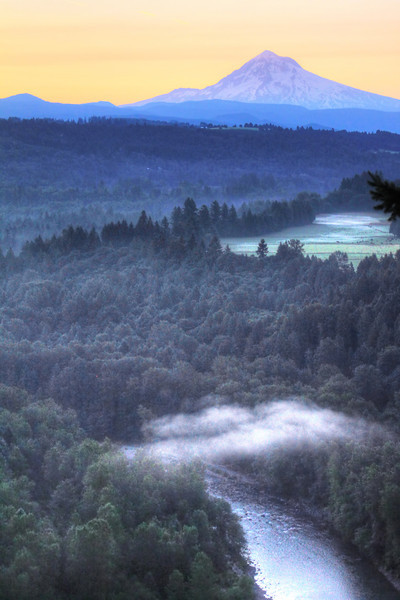 Sandy River view of Mt Hood
