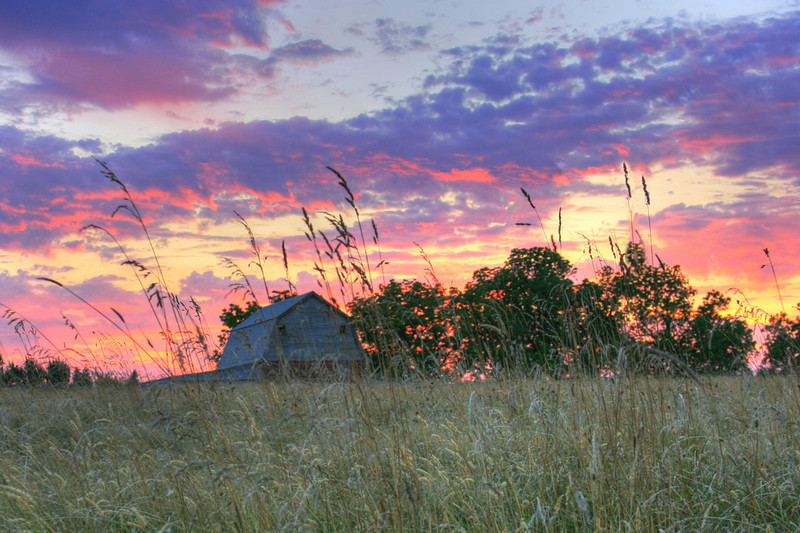 barn at sunset hdr cropped