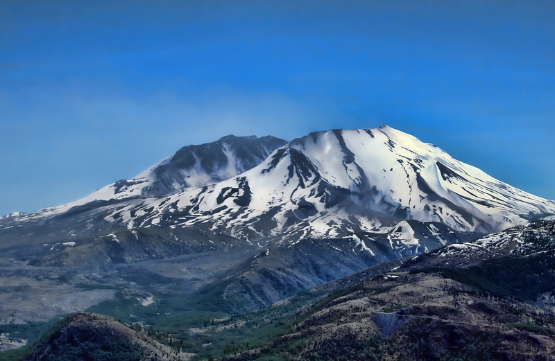 Mt St Helens snow active