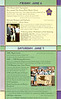 Alumni Weekend invitation - Inside. 2 of 4 panels