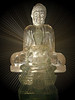 One sunny day I fell in love with the transparency of these two glass Buddha statues