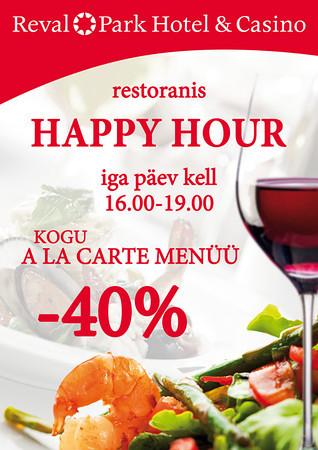 Reval Park Hotel Happy Hour, A4 laudadele