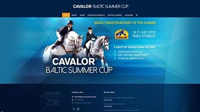Cavalor Baltic Summer Cup kodulehekülg WP peal. 2016
