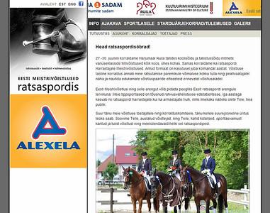 Eesti Meistrivõistlused, lihtne koduleht, 2011