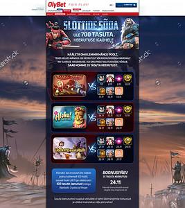 Slottide Sõda landing page disain, 2016